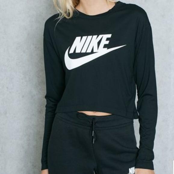 ec66ef8f88d Nike Tops | Sportswear Essential Crop Long Sleeve Top | Poshmark